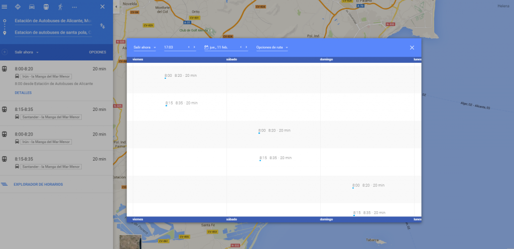 Calcula tus rutas en bus con Google Maps
