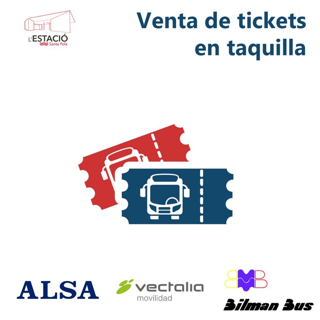 Venta de tickets en Estación de Santa Pola