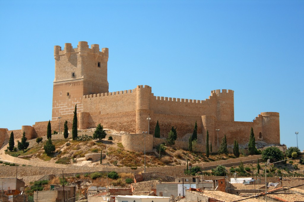 Villena Castle in Costa Blanca Alicante Spain. Villena is the part of Route of the Castles of Vinalopo