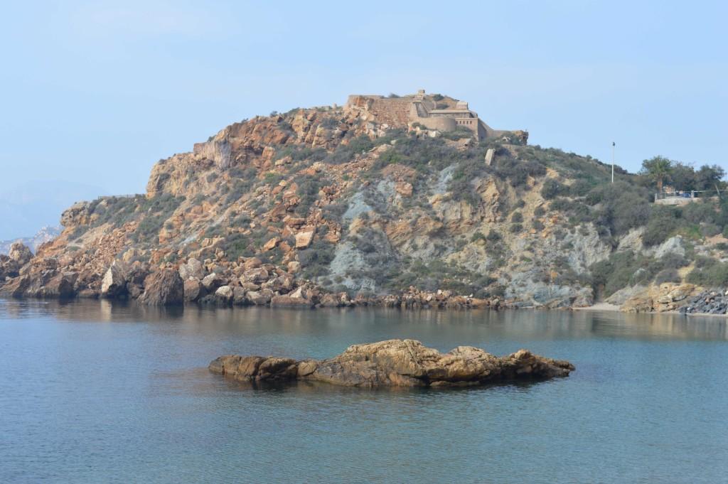 Cartagena,cala cortina,playa en Murcia,españa