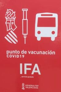 L'estació Punto de salida Vacunación IFA